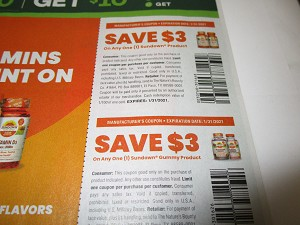 15 Coupons $3/1 Sundown Product + $3/1 Sundown Gummy Product 1/31/2021