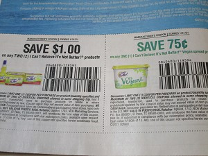15 Coupons $1/2 I Can't Believe its Not Butter + $.75/1 I Can't Believe Its Not Butter Vegan Spread 1/31/2021