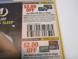 15 Coupons $2/1 Advil 40ct + $2/1 Advil 72ct 4/11/2021