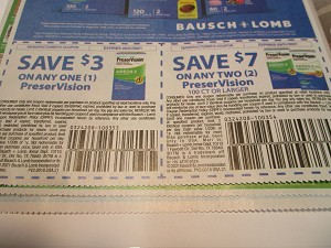 15 Coupons $3/1 PreserVision + $7/2 PreserVision 100ct 5/31/2021