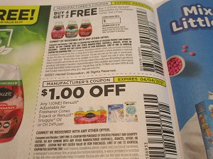 15 Coupons Buy 4 Get 2 Renuzit Adjustables + $1/1 Renuzit Adjustables Air Freshener Cones 4/4/2021